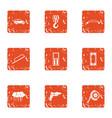 construction bridge icons set grunge style vector image vector image