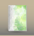 cover of diary or notebook light green vector image vector image