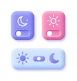 day and night mode switch icon set vector image