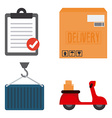 Delivery Objects vector image vector image
