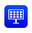desktop of computer with folders icon digital blue vector image vector image