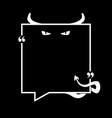 devils announcement speech bubble vector image vector image