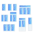 Different types of windows and doors vector image
