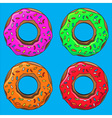 Donut with sprinkles set vector image vector image
