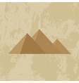 Egypt pyramid grunge background vector image