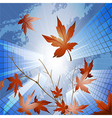 Fall in the big city vector image vector image