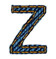 Farmerke tekstura slovo Z resize vector image