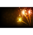 Festive yellow firework background vector image vector image