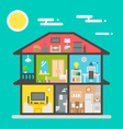 flat design house interior vector image vector image