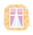flat window vector image