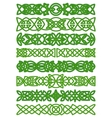 Floral celtic borders with traditional ornament vector image vector image