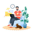 freelance home work flat vector image