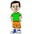funny boy character cartoon vector image vector image