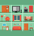 furnishing interior set for rooms in home vector image vector image