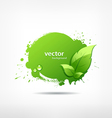 Green leaf concept ecology vector image vector image