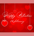 greeting card with valentine lettering happy vector image vector image