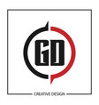 initial gd letter logo template design vector image