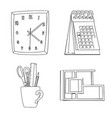 isolated object of furniture and work symbol set vector image vector image
