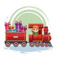 kids on train cartoon vector image
