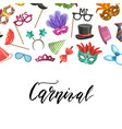 masks and party accessories vector image vector image