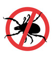 mite parasites symbol parasite warning sign vector image
