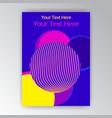 modern vertical overprint cmyk page template vector image