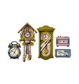 old clocks vector image vector image