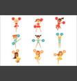 primary school little girls in cheerleaders vector image vector image