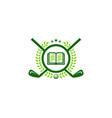 read golf logo icon design vector image