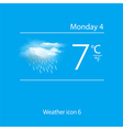 Realistic weather icon cloud with downpour vector image vector image
