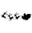 reindeer silhouettes vector image vector image
