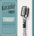 retro vintage microphone karaoke background vector image vector image