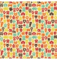 Robots seamless pattern in retro style vector image vector image
