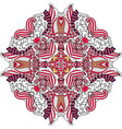 round red ornate element with swirls vector image vector image