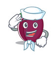 sailor plum character cartoon style vector image vector image