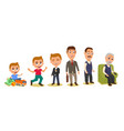 set generations mans different ages from child vector image