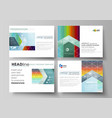 set of business templates for presentation slides vector image vector image