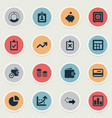 set of simple finance icons vector image