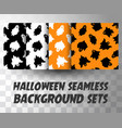 set seamless pattern ghosts vector image vector image