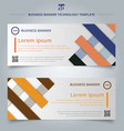 set template abstract geometric colorful vector image vector image