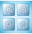 set winter icons with snowflakes vector image vector image