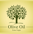sign olives tree on yellow background vector image