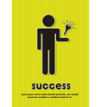 success icons over green background