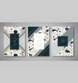 terrazzo wedding invitation card set abstract vector image vector image