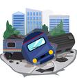 train crash vector image vector image