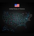 united states of america map technology usa