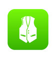 waistcoat icon green vector image vector image