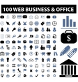 web business icons vector image vector image