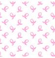 world aids day awareness pink ribbon sign seamless vector image