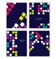 colorful retro templates set vector image